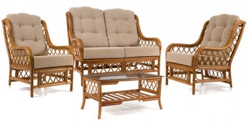 Комплект мебели для отдыха  диван + 2 кресла+ столик