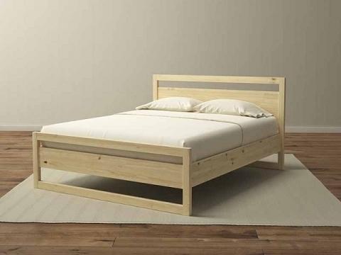 Кровать массив карельской сосны КвебЭК 80-90-120-140-160-180-200  0219
