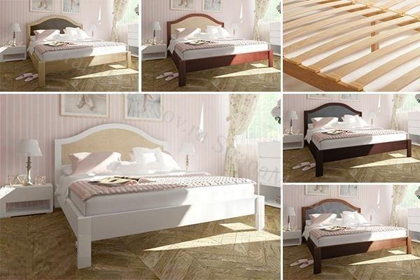 Кровать массив карельской сосны Онтарио 120-140-160-180-200   02.19